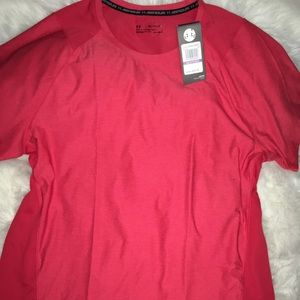 Under Armour Red Vented short sleeves shirt sz XXL